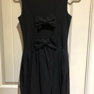 RED Valentino Dresses - RED Valentino black bow cocktail dress